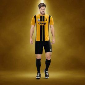 Juventus Sarı-Siyah Dijital Halı Saha Forma