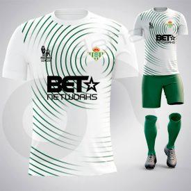 Vertigo Beyaz-Yeşil Dijital Halı Saha Forma
